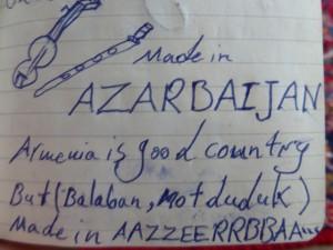 Une troublante expression du syndrôme d'Üsküdar gentiment immortalisée sur mon carnet par Riza