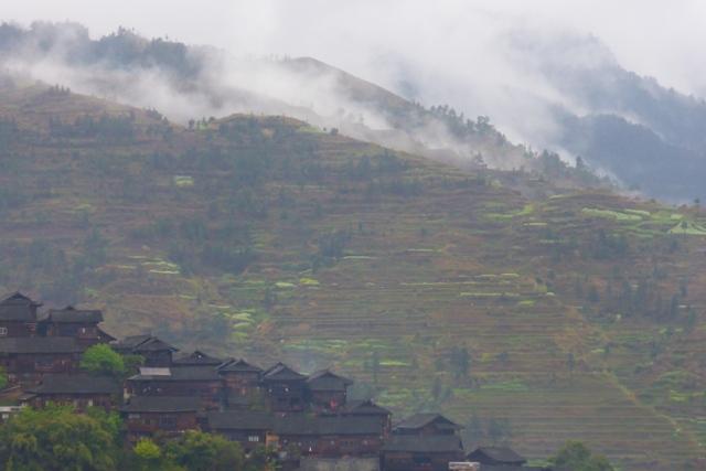 Paysage du Guizhou après la pluie.