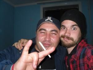 Kamikaze et David le suédois (merci pour tes photos de la soirée!!)